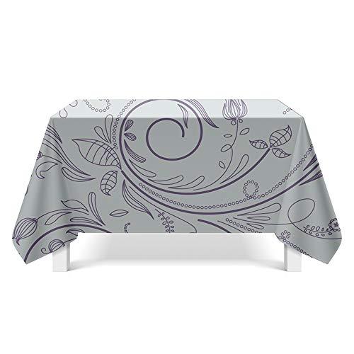 DREAMING-Abstrakte Blütenblattkunst Tischdecke Haupt Esstisch Stoff Tv-Schrank Couchtisch Stoff Runde Tisch Tischset 140cm * 200cm