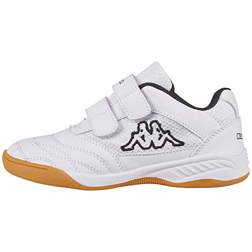 Kappa Unisex-Kinder Kickoff K 260509K-1011 Low-Top, Weiß 1011 White Black, 33 EU