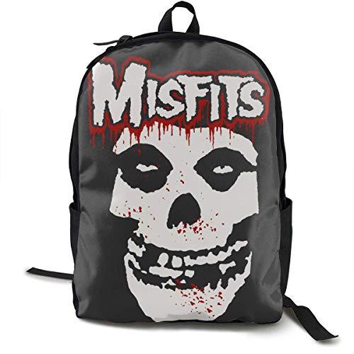 ZYWL The Misfits Music Poster Mochila de Lona Informal Bolsa de Viaje Escolar Bolsa para portátil