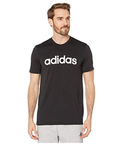 adidas Herren T-Shirt mit 2 Move Clima Soft Logo, Herren, kurzärmelig, Designed 2 Move Cc Tee, schwarz, Small