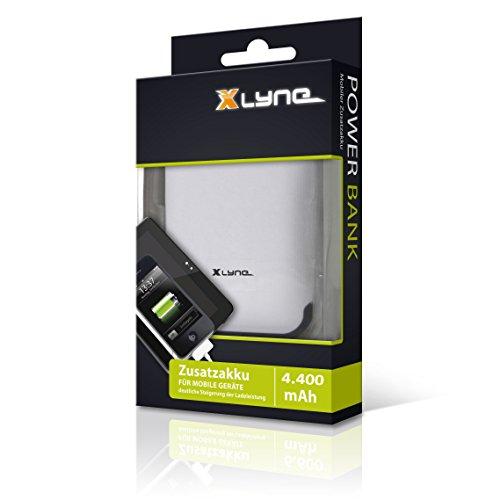 XLYNE Powerbank 4.400 mAh │Zusatzakku für mobile Geräte (Smartphone, Handy, MP3-Player, Navigationsgeräte)