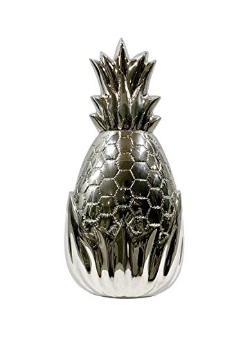 Türklopfer, Ananas, massives Messing, vernickelt