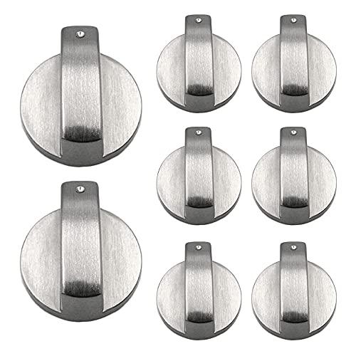 Gobesty 8 Piezas Perillas de Control universales, Perilla de Gas 6 mm, Pomo para Estufa de Gas, adaptadores para Interruptor de Horno de Cocina,Perillas Cocina para hornos Cocinas y Placas