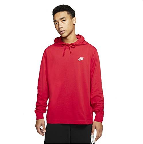 Nike Męska męska bluza z kapturem Nsw Club bluza z kapturem Uniwersytet czerwony/(biały) XL