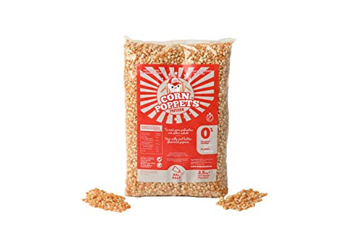 Corn Poppets | Granos de Maíz para Palomitas Sabor Salado | Palomitas Saludables , 100 % Natual | Pack ahorro 2,5 kg