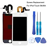 Full Screen Replacement for iPod Touch 5 5th 6 6th LCD Screen The Whole Display Assembly + Free Repair Tools (iPod Touch 5/6 White)