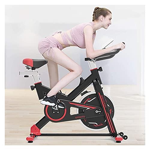 Bicicleta de ciclismo interior, bicicleta de ciclo de tracción de cinturón silencioso con manillares y asientos ajustables, bicicleta de fitness y entrenador AB, equipo deportivo, entrenador de cardio
