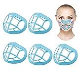TOYMIS Soporte 3D de 5 Piezas, Marco de Soporte de Silicona Interior (Azul)