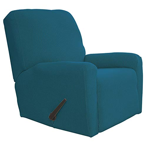 Easy-Going Stretch Slipcovers ..., Textil baumwolle Polyester-Mischgewebe, blau - peacock blue, 23'