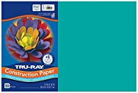 Pacon Tru-Ray Construction Paper, 12-Inches by 18-Inches, 50-Count, Turquoise (103055) by Tru-Ray