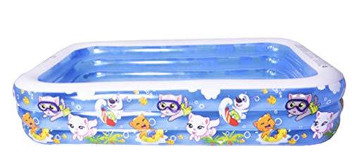 nobrand Wwceem Mink Kayak Rechteckiger aufblasbarer Pool Geeignet für Erwachsene und Kinder Gartenhaus Blau Weiß Hinterhof Innen- und Außenbereich Blau Weiß 200 X 150X 60 cm Blau