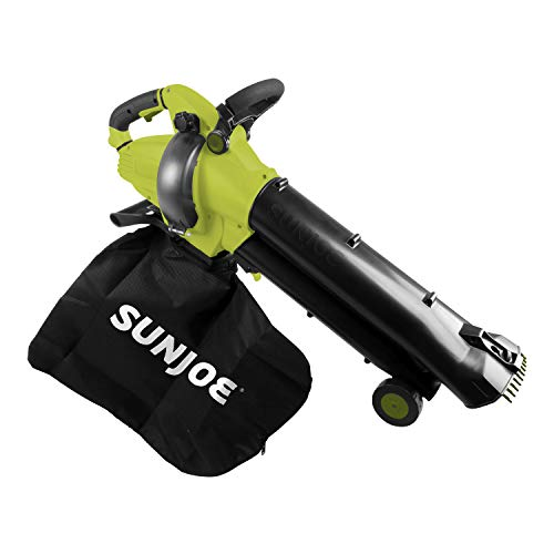 Sun Joe SBJ702E 12-Amp, 250-MPH 3-in-1 Outdoor Electric Vacuum/Mulcher/Blower, Green