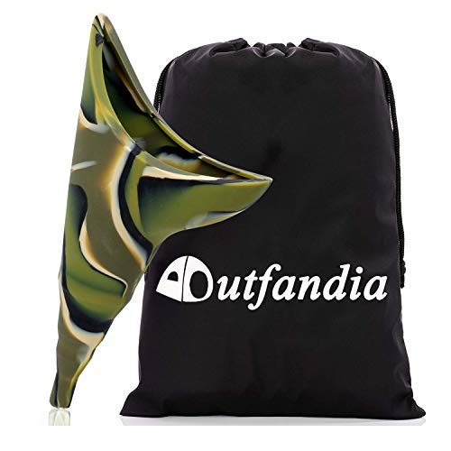 OUTFANDIA Female Urination Device - Foolproof Urinal Allows Women to Pee Standing Up - No Leak, No Spill Womens Pee Funnel - Flexible, Discreet for Camping & Festival - w/Handy Pouch