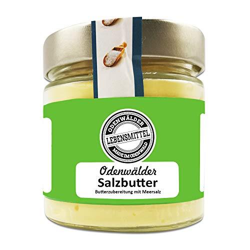 Odenwälder Lebensmittel - 150g premium Salzbutter mit echtem Meersalz - hochwertige Butter - Made in Germany