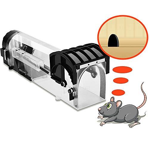 XCOZU Mausefalle Lebend, Lebendfallen Mäuse Professionelle Kastenfalle, Die tierfreundliche Mäusefalle Lebendfalle, Lebendfalle Maus, Wiederverwendbare Mausefallen für Küche, Garten, Lager