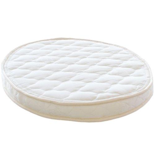 Lifekind Certified Organic Natural Rubber Latex Oval Bassinet Mattress (23x29x2.5 Inches)