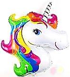 SauParty XXL Helio Unicornio Globo de Plástico Infantil Cumpleaños Fiesta Pony Caballo Balloon