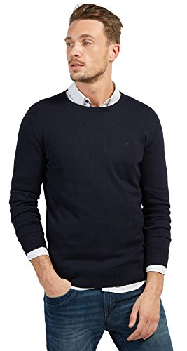 TOM TAILOR Herren 30228800910 Pullover, Blau (Knitted Navy 6800), L