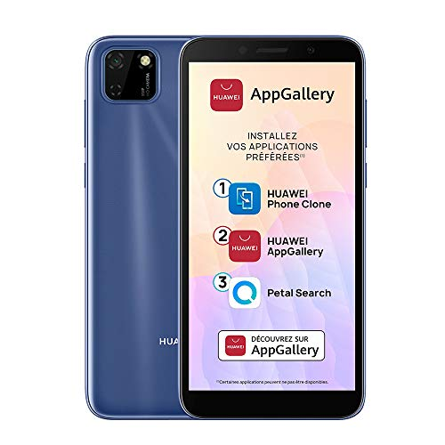 HUAWEI Y5p Smartphone, Ecran de 5.45 Pouces, Mémoire de 32G, 2Go de RAM, Dual SIM, Caméra arrière de 8MP & Avant de 5MP, AppGallery, Bleu[Version Française]