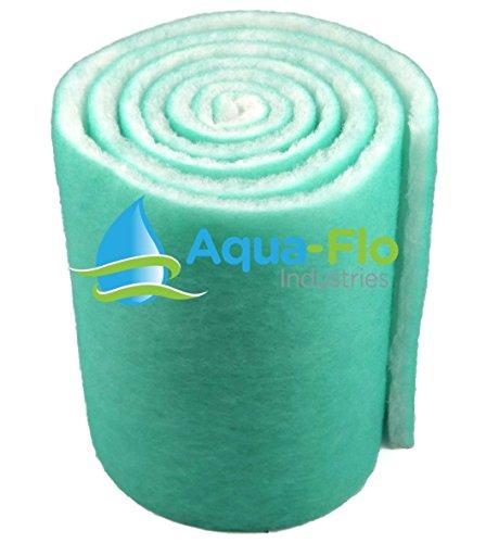 Aqua Flo Pond & Aquarium Filter Media, 12' x 120' (10 Feet) Long x 1' Thick (Green/White)