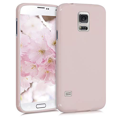 kwmobile Funda Compatible con Samsung Galaxy S5 / S5 Neo - Carcasa de TPU Silicona - Protector Trasero en Rosa Palo Mate