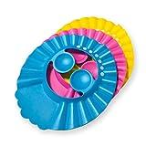 Vockvic 3 Pack Baby Badekappe Bade Schutz, Einstellbar Kinder Duschhaube Shampoo weicher Schutzkappe für Kinder, Kinder, Kleinkind