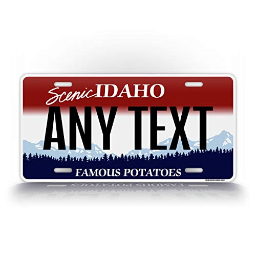 SignsAndTagsOnline Custom Scenic Idaho State License Plate ID Replica Personalized Text Novelty Auto Tag
