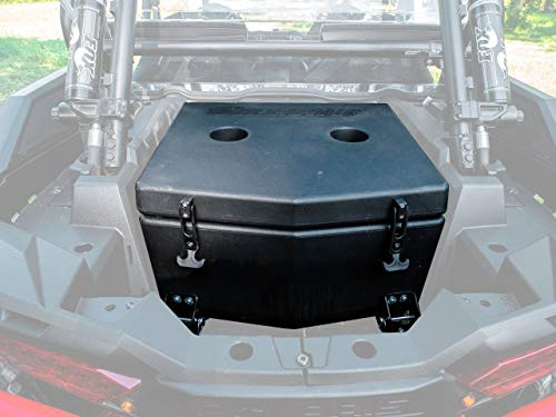 SuperATV Heavy Duty Insulated Rear Cooler/Cargo Box for Polaris RZR XP Turbo / 4 Turbo (2016+) - Sealed Lid Keeps Ice In & Mud Out!