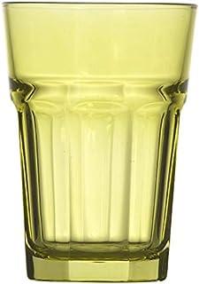Topkapi 250.883 Lot de 6 verres à cocktail Miami Green XL (36 cl) pour cocktails, longdrink, mojito, jus, eau, hauteur ~ 1...