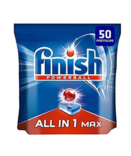 Finish Powerball All in 1 Max – Pastillas para el lavavajillas todo en 1 – formato 50 unidades