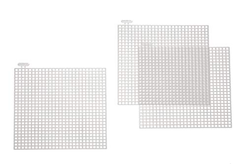 Darice 10-Piece Square Plastic Canvas Shape, 4 by 4-Inch, Clear