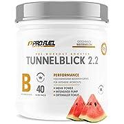 TUNNELBLICK 2.2 | Power • Fokus • Pump | Pre Workout Booster | DAS ORIGINAL von ProFuel  | Pump Booster mit Guarana, Beta-Alanin & Tyrosin | 360g - 40 Portionen | WATERMELON (Wassermelone)