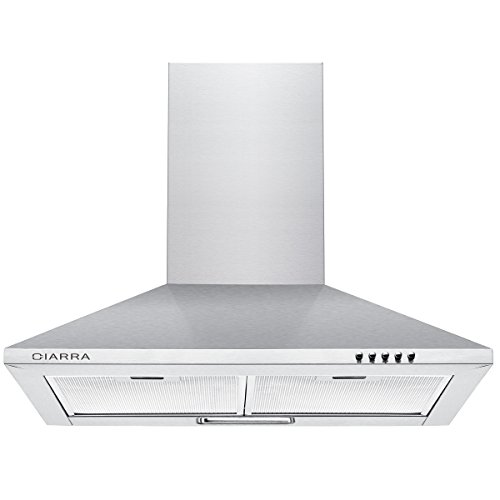 CIARRA CBCS6201 Cooker Hoods 60cm Stainless Steel Chimney Range Hood 600mm...