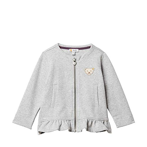 Steiff Baby - Mädchen Sweatshirt , Grau (QUARRY 9007) , 80 (Herstellergröße:80)
