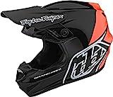 Troy Lee Designs Adulto   Offroad   Motocross   GP Block Casco (Negro/Naranja, Pequeño)