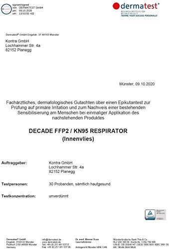 """10x FFP2 Mundschutz Maske – Test: """"SEHR GUT"""" DECADE Maske 4 Lagig – Made in Germany - Mund und Nasenschutz, Einmalmasken EINZELVERPACKT Maske N95 Schutzmaske KN95 - 7"""
