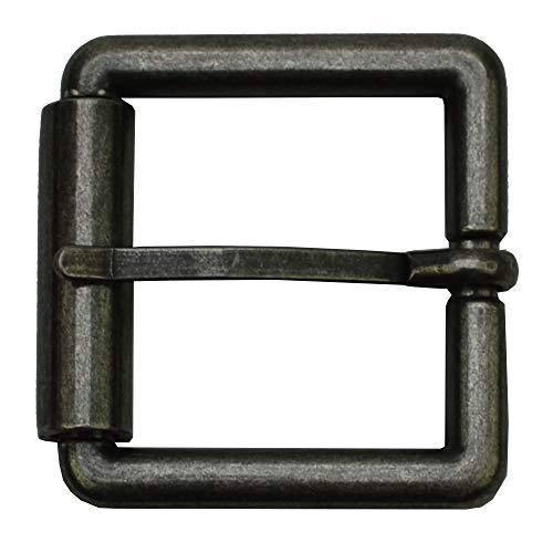 flevado Gürtelschnalle Vintage antik Buckle 40 mm Metall Dornschließe für Gürtel mit 4 cm Breite M 3