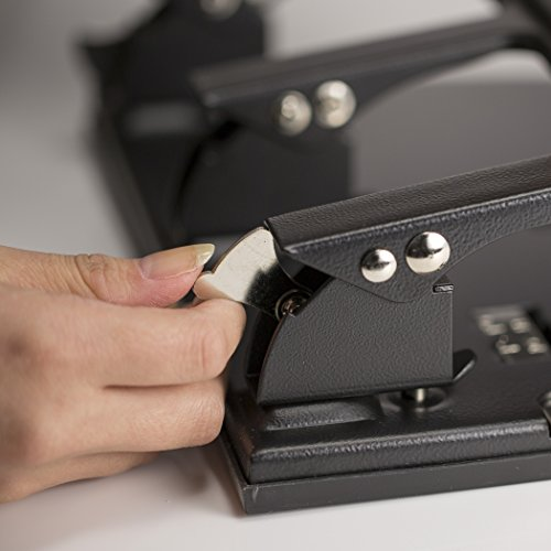 Officemate Heavy Duty 3 Hole Punch with Padded Handle, 40-Sheet Capacity, Black (90089) Photo #2