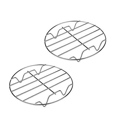 Raffredda Torta Rotondo 30 cm in Metallo cromato2Pcs, Cremagliera a Vapore Tonda in Acciaio Inox e griglia portafiltro Cottura,Raffreddamento Antiaderente Torta Raffreddamento Filo Perfetto