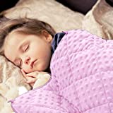 MAXTID Weighted Blanket for Kids 3lbs Pink 36x48 Toddler Heavy Blanket for Sleeping Comfort Sensory Blankets for Girls