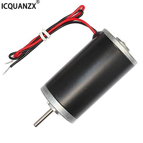 ICQUANZX Permanentmagnet Motoren,31ZY 12V 8000RPM Hochgeschwindigkeits-CW/CCW Permanentmagnet-DC-Motor für DIY-Generator, der hauptsächlich für Ventilatorlüftungsmechanismus, Heizung (12V8000R)