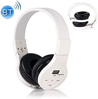 Digital Media Players HRD-391 Portable FM Radio Receiver Bluetooth Headset (White) (Color : White)