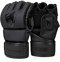 Liberlupus MMA Gloves, Boxing Gloves for Men & Women, Kickboxing Gloves with Open Palms, Punching Gloves for Heavy Bag, Sparring, Muay Thai, MMA