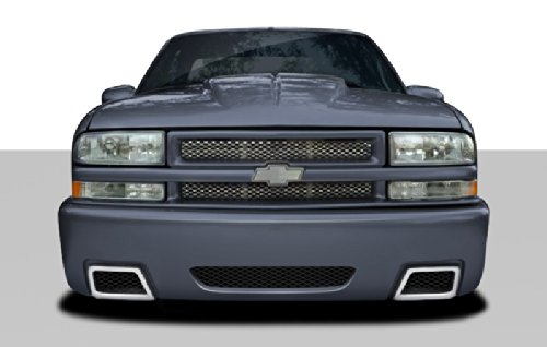 Extreme Dimensions Duraflex Replacement for 1982-1993 Chevrolet S-10 Blazer GMC Jimmy R34 Front Bumper Cover - 1 Piece