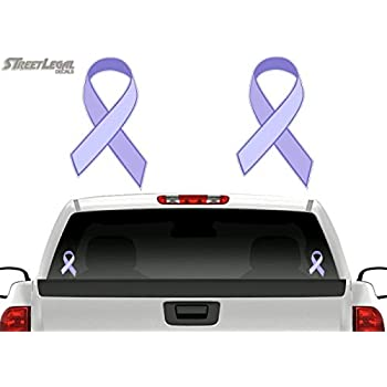 Violet Non Hodgkins Lymphoma and Testicular Cancer Fighter Ribbon Car Magnet Decal Heavy Duty Waterproof