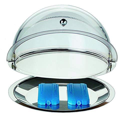 APS Thermo-Set 5-teilig – Hochwertiges Tablett-Set bestehend aus einem tiefen Tablett, einem flachen Tablett, zwei Kühl-Akkus, sowie einer Rolltophaube