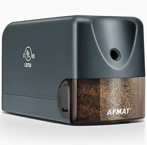 AFMAT Electric Pencil Sharpener Heavy Duty, Classroom Pencil Sharpener for 6.5-8mm No.2/Colored...