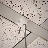 Plastic Drop Ceiling Grid Clips with 3/16' Diameter Hole, Snap On Ceiling Sign Hangers, 30 Pack