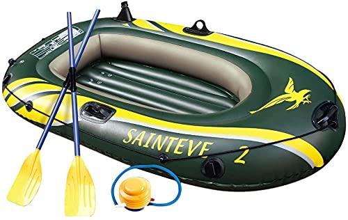 Bote Inflable para 2 Personas, Balsa Gruesa, Kayak, Asalto, Botes De Goma, Aerodeslizadores Resistentes Al Desgaste, para Pesca, Entretenimiento, 3 Kayak (Tamaño: Bote para 1 Persona), Deportes Acuát