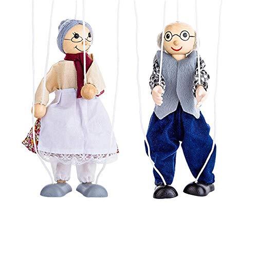 YANMUZI Marionetas Pull String Puppet Toy Marionetas String Puppet Doll Juguetes Interactivos para Cumpleaños Regalo,C